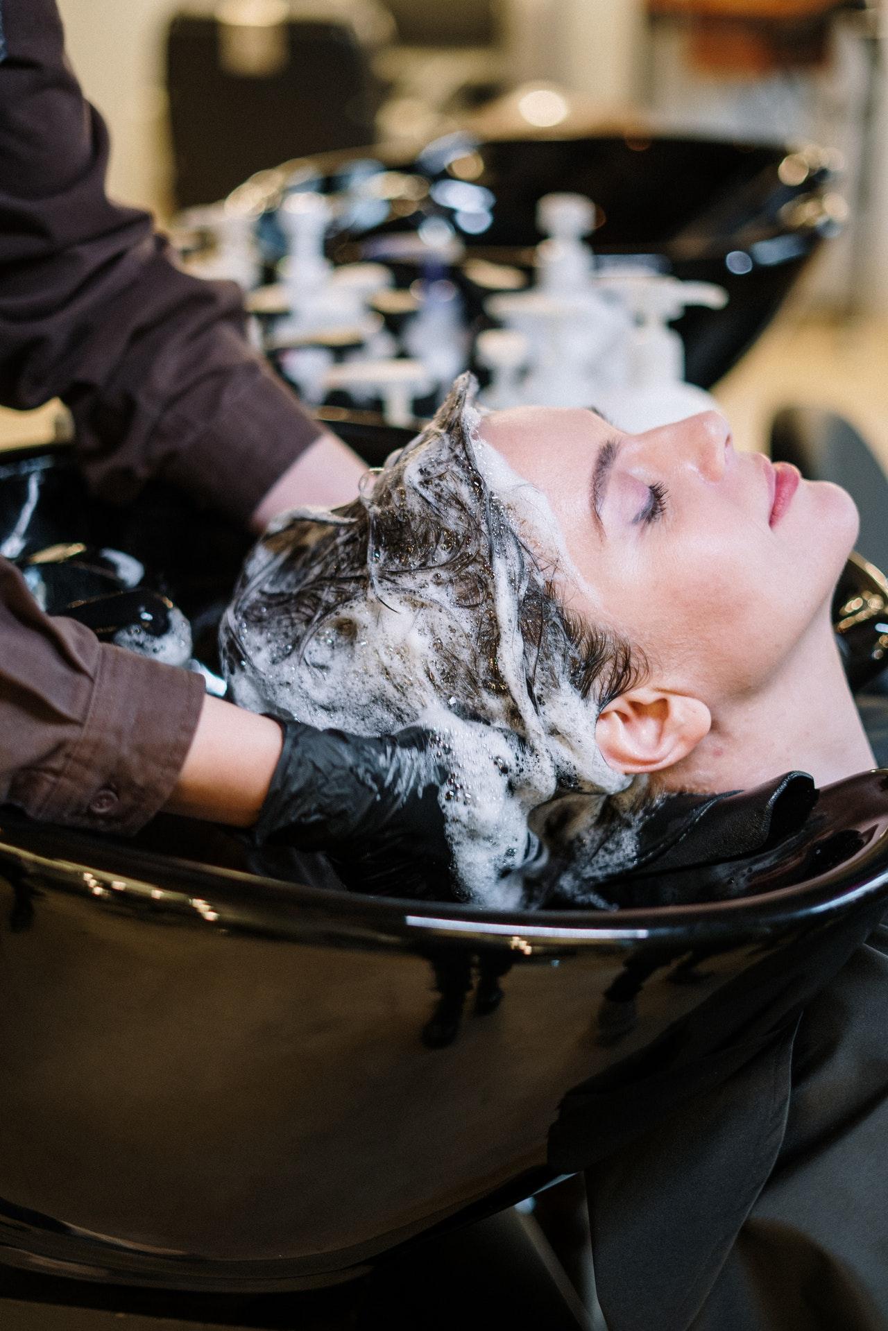 Haar in shampoo